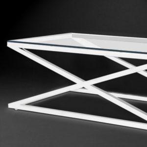 Журнальный столик «С-23» из нержавеющей стали и стекла